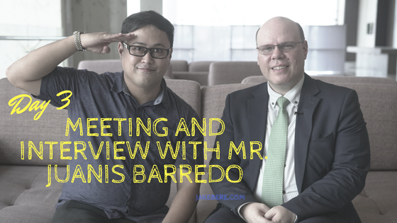 Day 3 Meeting and Interview with Mr. Juanis Barredo 90 day Business Genius